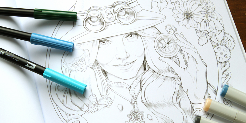 Etta the Explorer Coloring Page