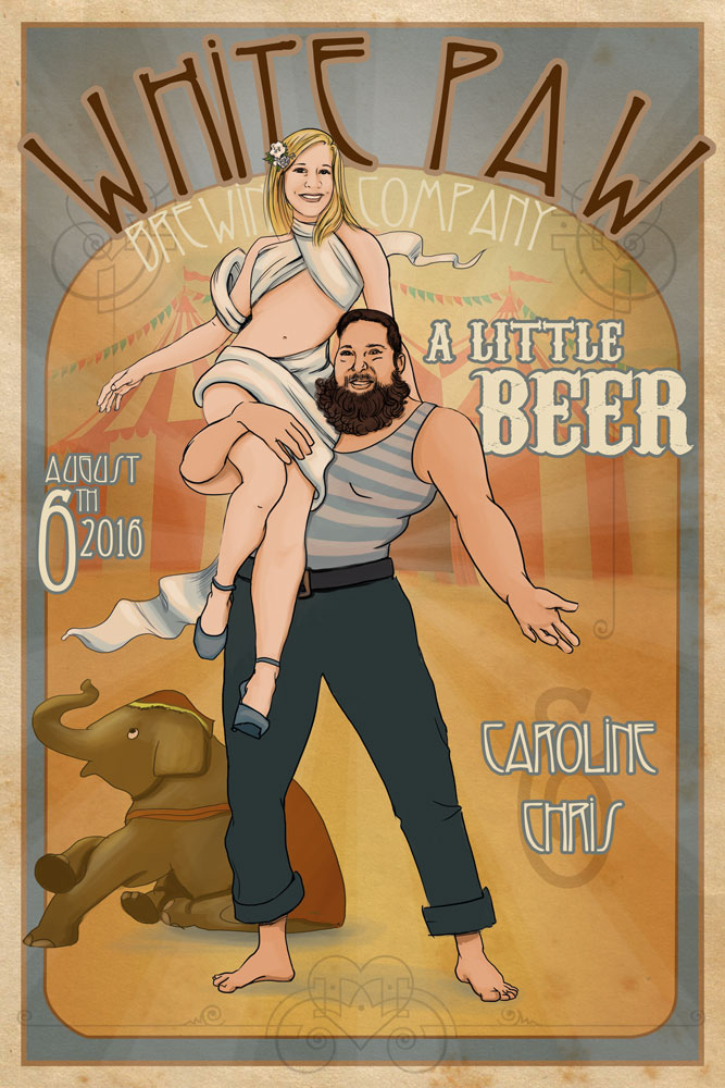 Art Deco Circus Brewery Poster