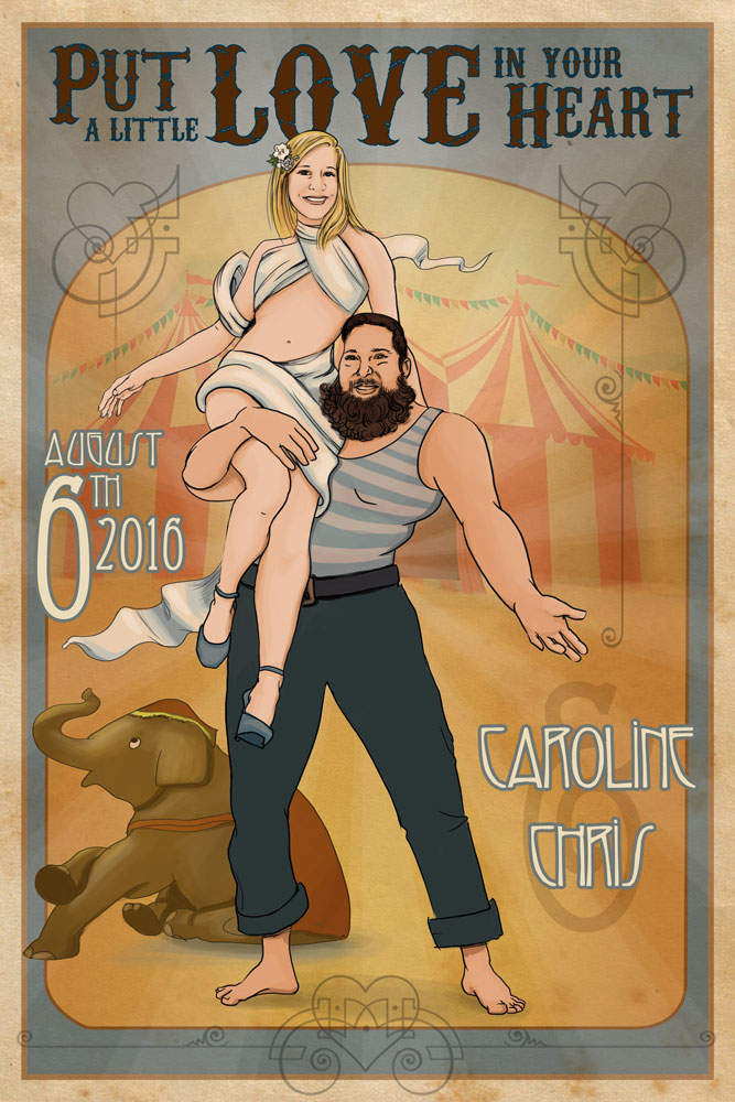 Art Deco Circus Wedding Poster