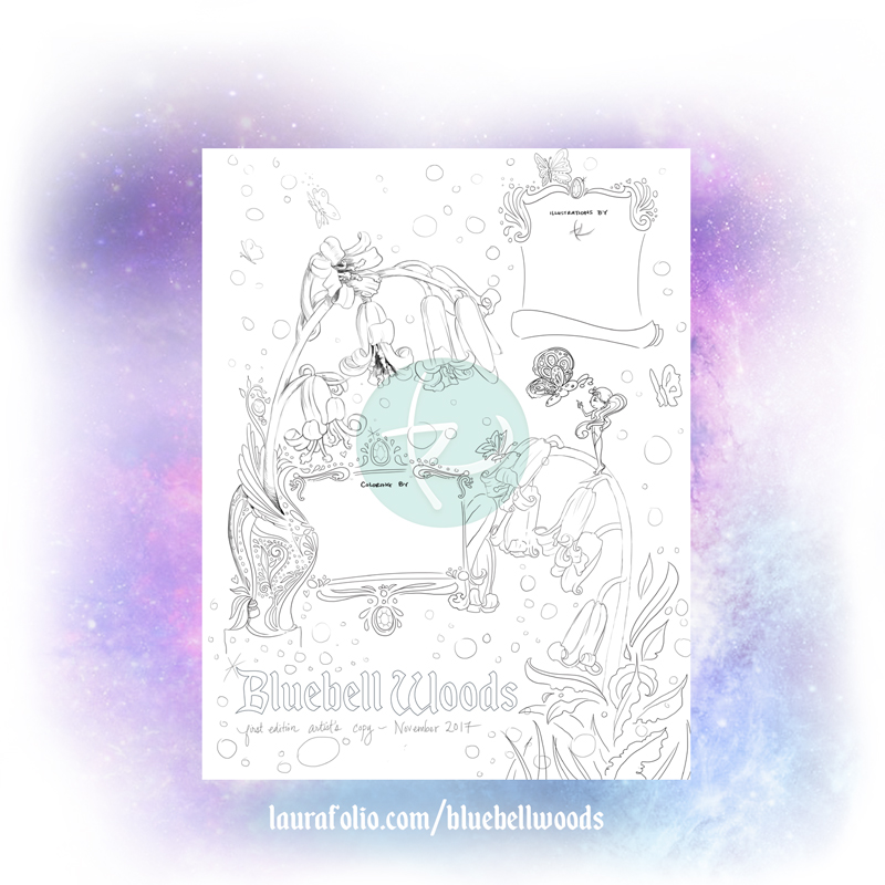 Bluebell Woods Coloring Book Nameplate Page