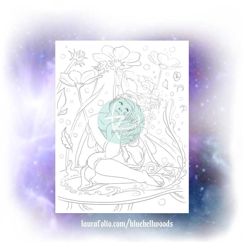 Verdita the Flower Fairy Coloring Page