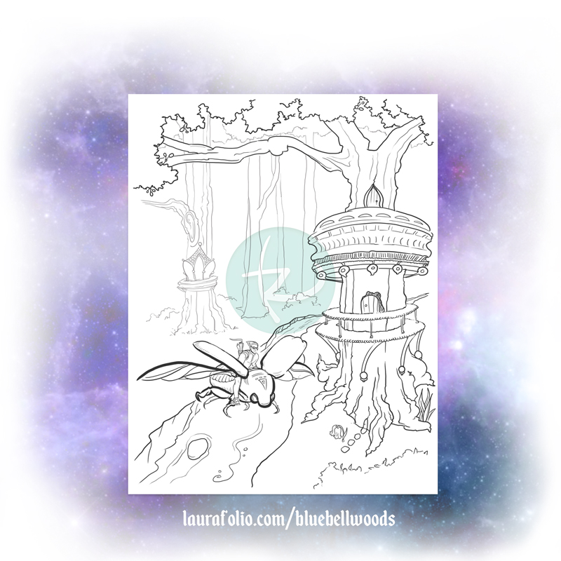Campanula the Messenger Beetle Coloring Page