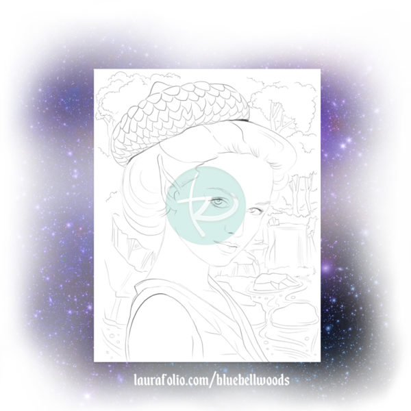 Shallow Water Sprite Adult Coloring Page