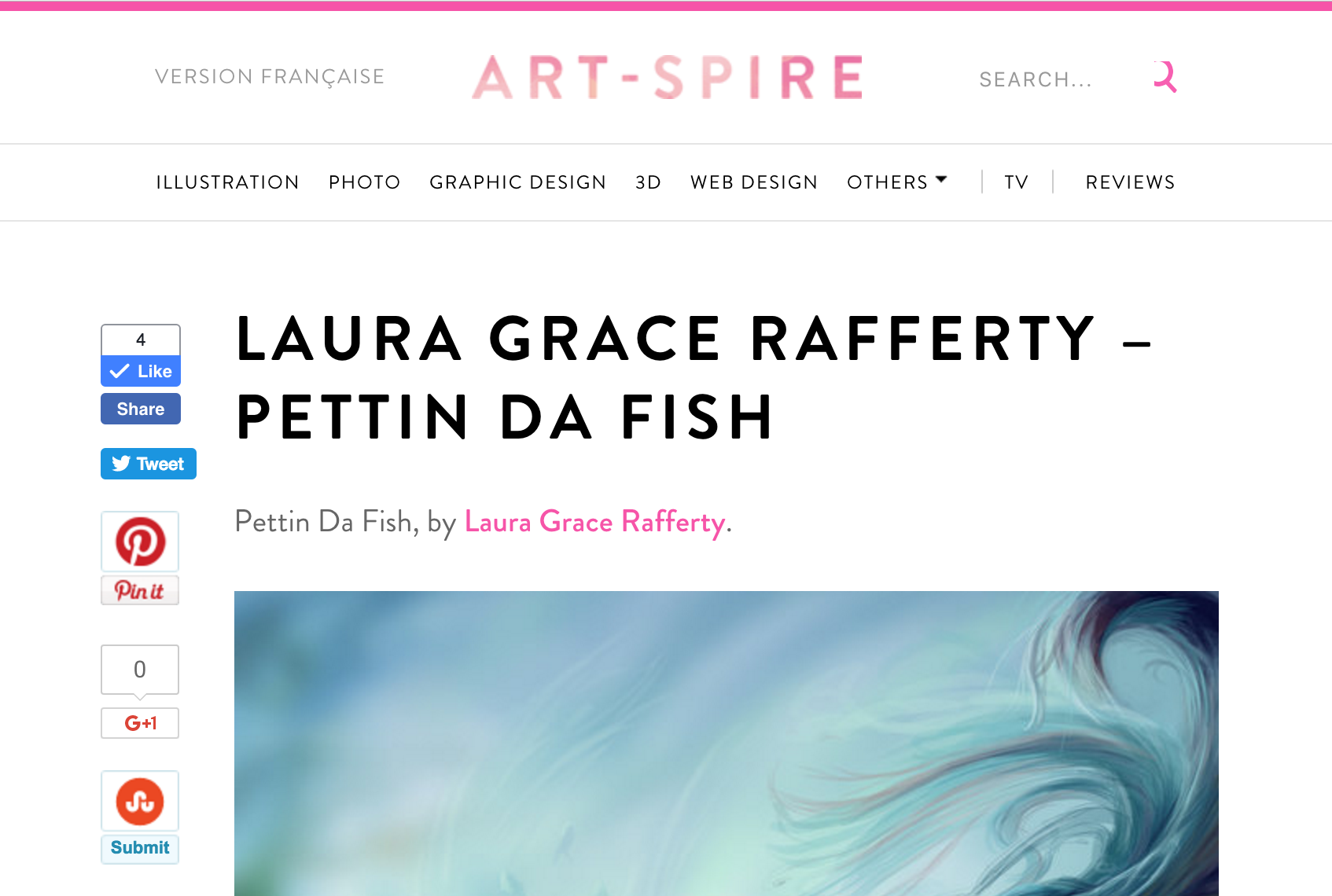 ArtSpire Website Feature