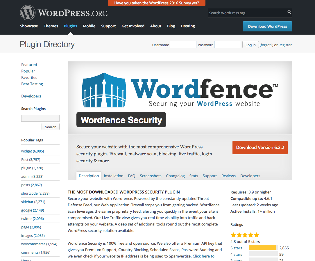 https://wordpress.org/plugins/wordfence/