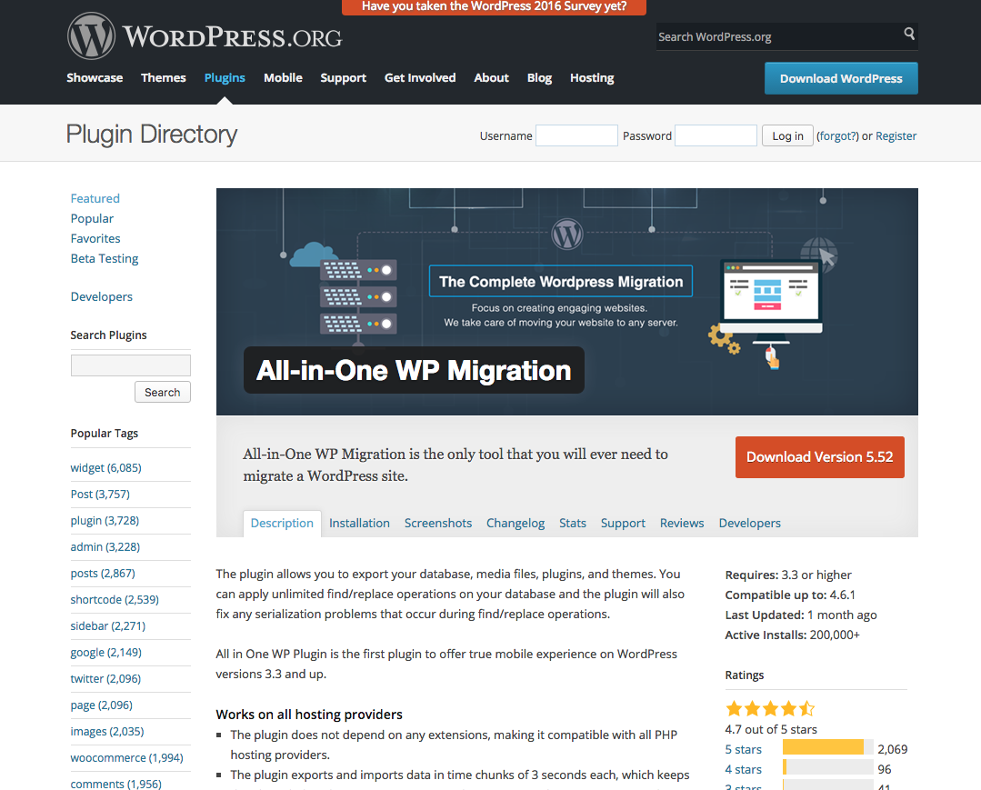 https://wordpress.org/plugins/all-in-one-wp-migration/