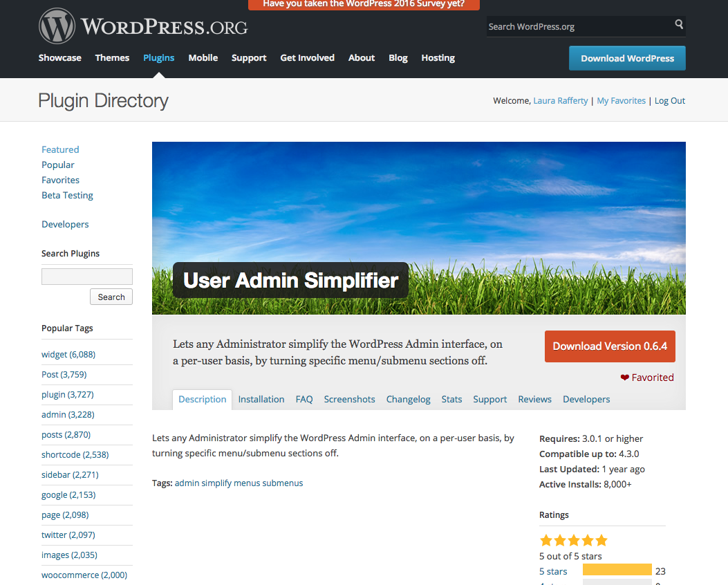 https://wordpress.org/plugins/user-admin-simplifier/