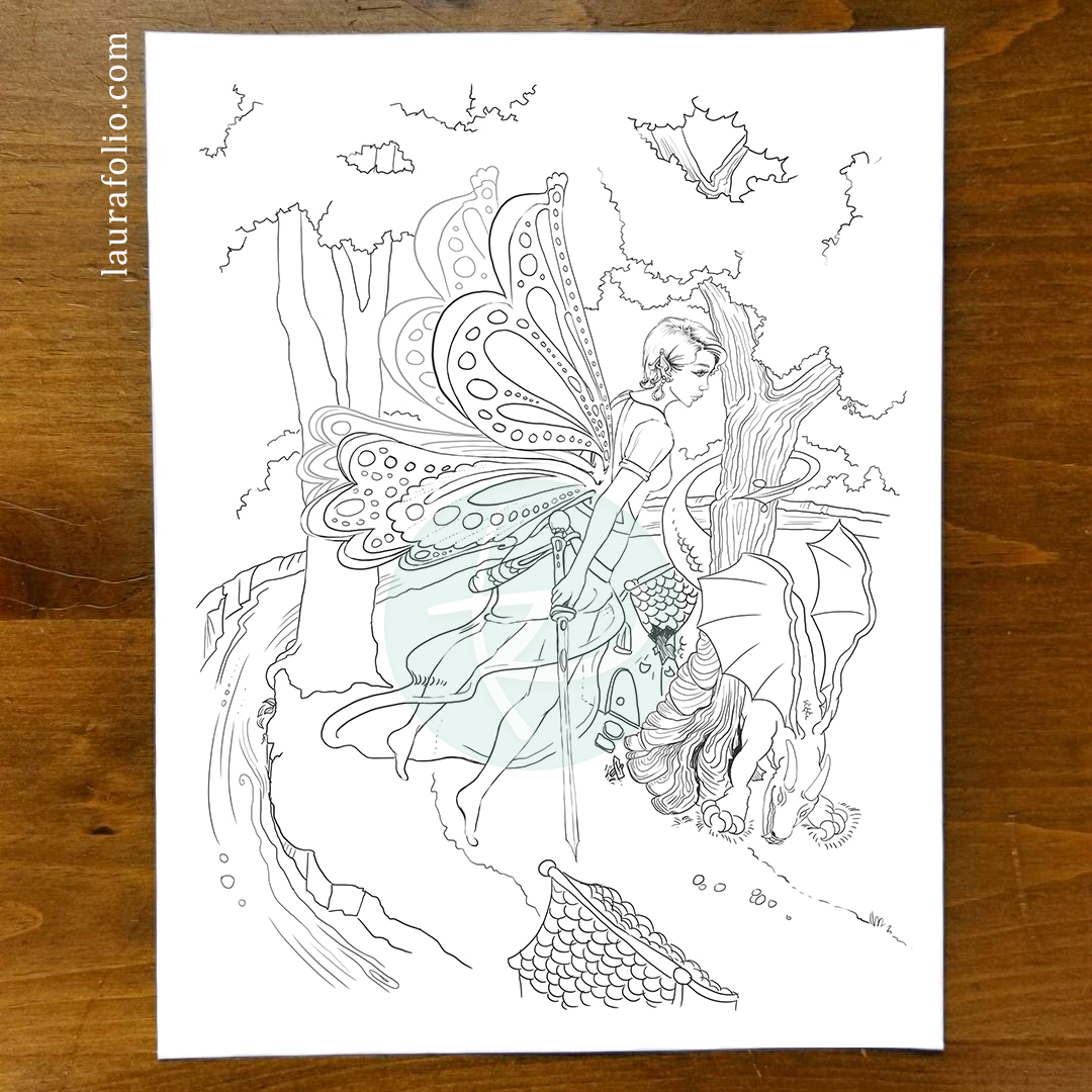 Bluebell Woods Coloring Book - Cindy and the Dragon