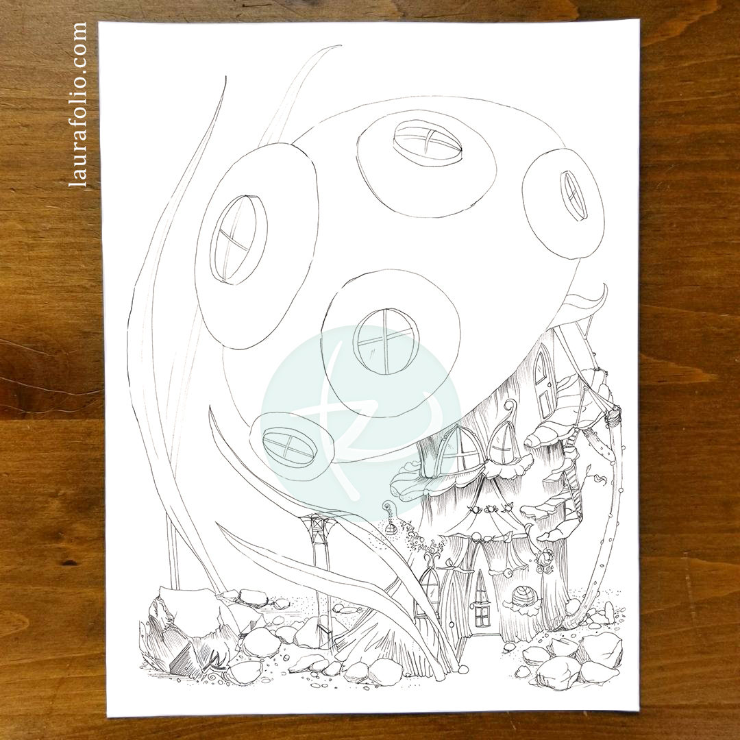 Bluebell Woods Coloring Book - Mushroom Hut