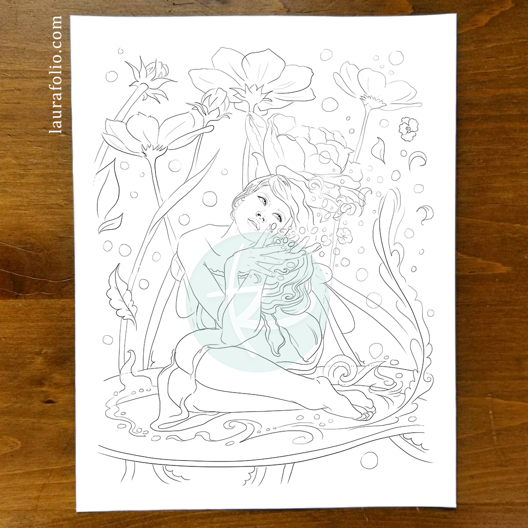 Bluebell Woods Coloring Book - Verdita the Flower Fairy