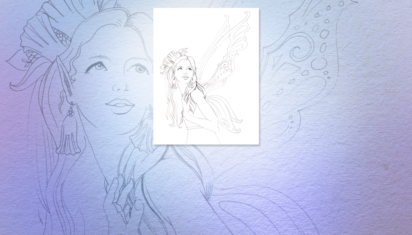 Bellie the Fairy Coloring Page