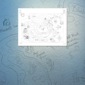 Bluebell Woods Map Coloring Page