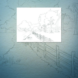 Entering Bluebell Woods Coloring Book Page