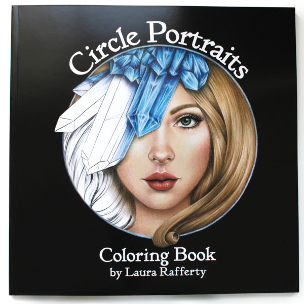 Circle Portraits Coloring Book front cover