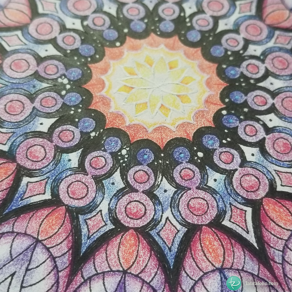 The Art of Vikki Sunset Mandala
