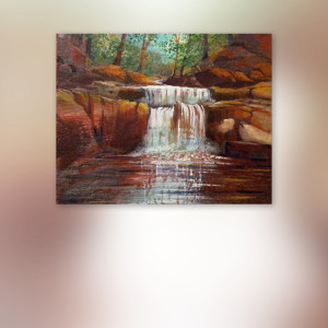 Encaustic Wax Waterfall