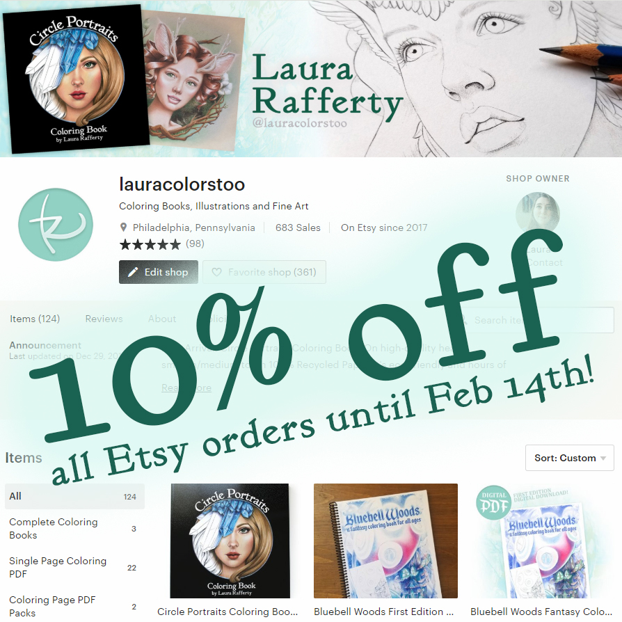 10% off your entire Etsy order until Feb 14th