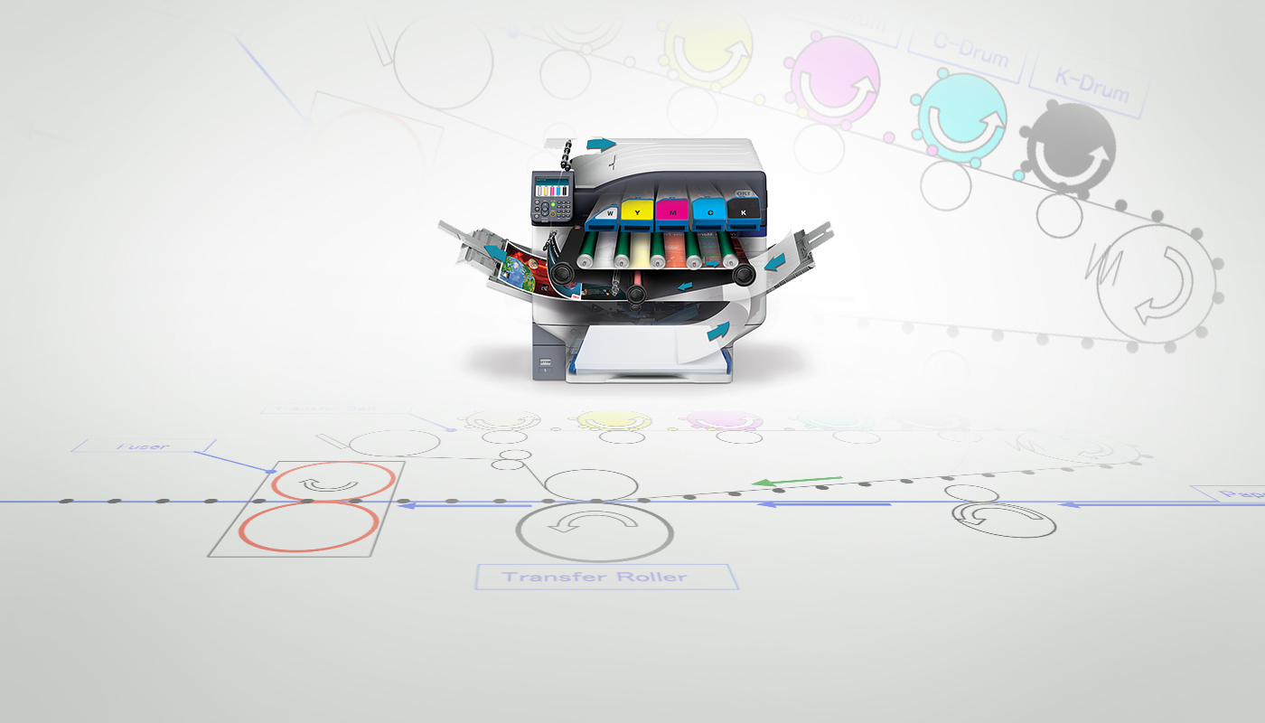 Technical Illustration of a Printer