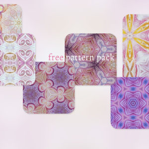 Free Photoshop CC Pattern Pack 01 – Sunrise Zentangle Set
