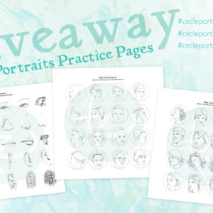 Circle Portraits Practice Pages Limited Time Freebies