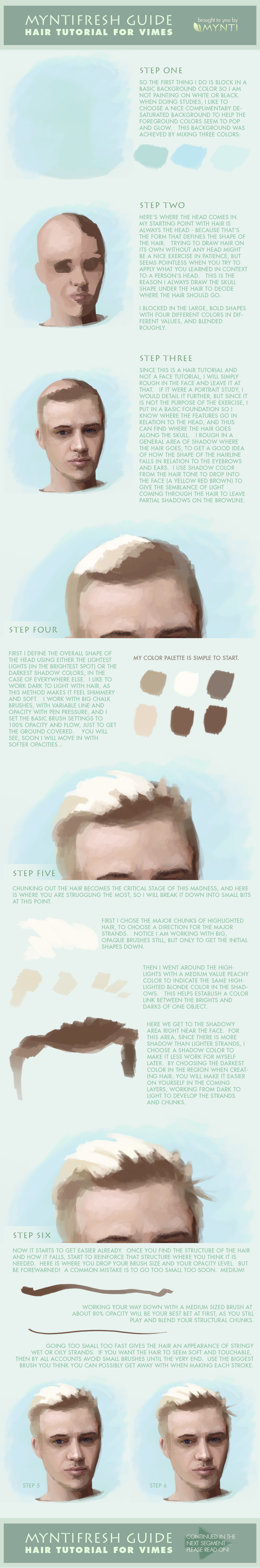 Hair Painting Tutorial Part One