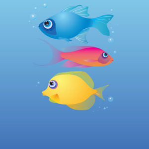 Primary Fishy Set Free Vector Stock