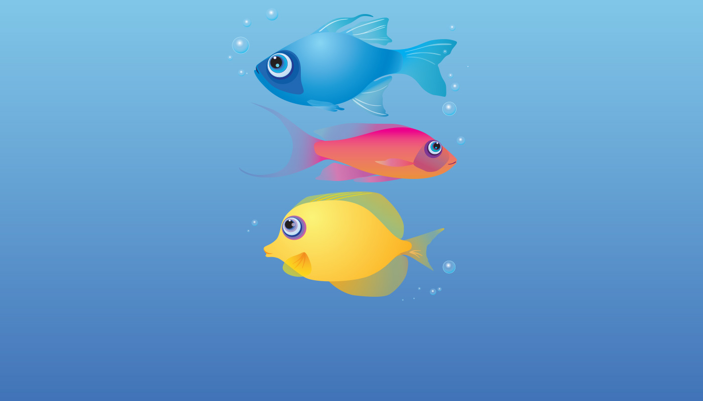 Free Vector Stock of Fish - Red, Yellow and Blue