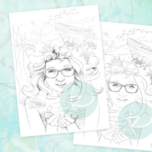 Katrine the Freshwater Mermaid Updated Free Coloring Page