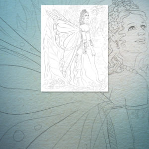 Michelle the Fairy Coloring Page