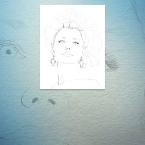 Mystical Portrait Coloring Page