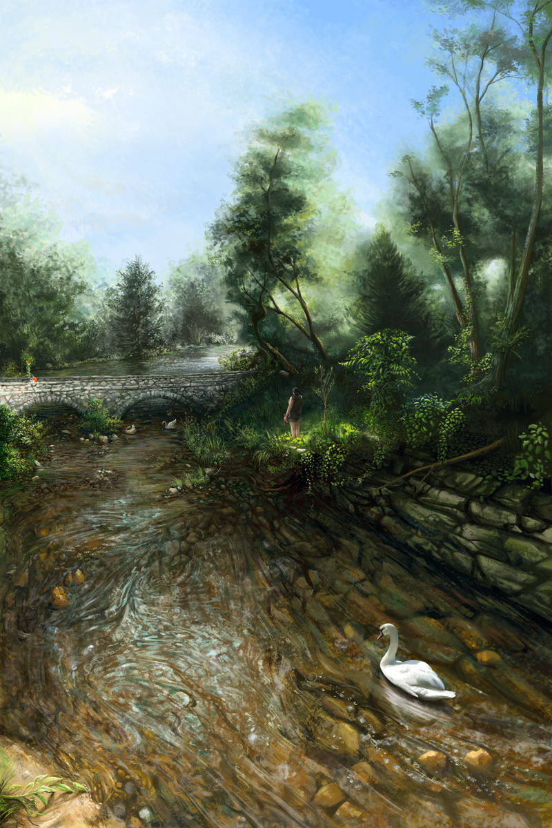 Streubel Stream Painting