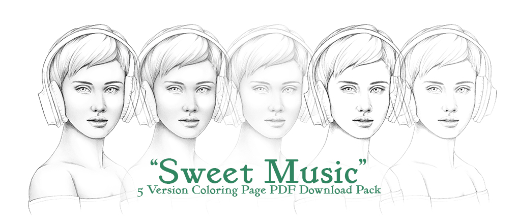 Sweet Music Coloring Page